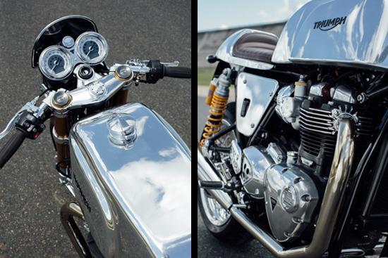 préparation Triumph Thruxton Project AMR Vittel - Manx